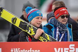 02.02.2019, Energie AG Skisprung Arena, Hinzenbach, AUT, FIS Weltcup Ski Sprung, Damen, Siegerehrung, im Bild Maren Lundby (NOR) // during the winner Ceremony of FIS Ski Jumping World Cup at the Energie AG Skisprung Arena in Hinzenbach, Austria on 2019/02/02. EXPA Pictures © 2019, PhotoCredit: EXPA/ Reinhard Eisenbauer