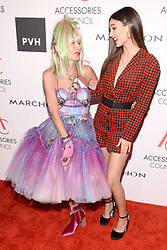 Designer Betsey Johnson and Victoria Justice attend the Accessories Council's 21st Annual celebration of the ACE awards at Cipriani 42nd Street in New York, NY, on August 7, 2017. (Photo by Anthony Behar) *** Please Use Credit from Credit Field ***