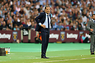 Slaven Bilic, the West Ham United manager looks on from the touchline. UEFA Europa league, 3rd qualifying round match, 2nd leg, West Ham Utd v NK Domzale at the London Stadium, Queen Elizabeth Olympic Park in London on Thursday 4th August 2016.<br /> pic by John Patrick Fletcher, Andrew Orchard sports photography.