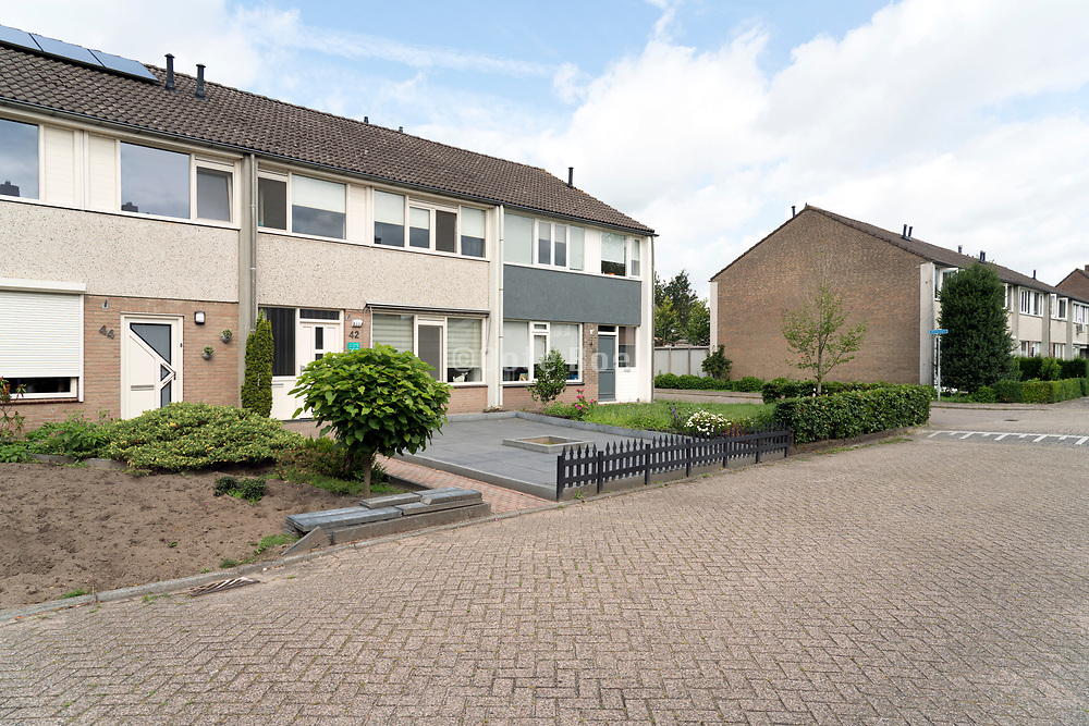 row house with garden in front of the home The Netherlands