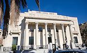 Art Deco style architecture Banco de España completed 1936 in Malaga, Spain architect Jose Yarnoz