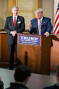 Republican presidential candidate billionaire Donald Trump answers a question during a press conference February 15, 2016 in Hanahan, South Carolina.