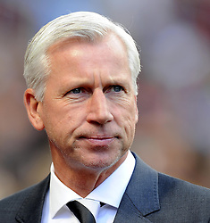 Newcastle United Manager, Alan Pardew - Photo mandatory by-line: Joe Meredith/JMP - Mobile: 07966 386802 23/08/2014 - SPORT - FOOTBALL - Birmingham - Villa Park - Aston Villa v Newcastle United - Barclays Premier League