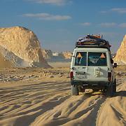 4WD vehicle in White Desert, Egypt (January 2008)