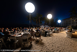 The Awards Banquet on the beach at Casa Marina resort was a great way to wrap the 2,368 mile ride of the Cross Country Chase motorcycle endurance run from Sault Sainte Marie, MI to Key West, FL. (for vintage bikes from 1930-1948). Sunday, September 15, 2019. Photography ©2019 Michael Lichter.
