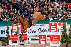 BICOCCHI Emilio (ITA), Evita SG Z<br /> Leipzig - Partner Pferd 2020<br /> Longines FEI Jumping World Cup™ presented by Sparkasse<br /> Sparkassen Cup - Großer Preis von Leipzig FEI Jumping World Cup™ Wertungsprüfung <br /> Springprüfung mit Stechen, international<br /> Höhe: 1.55 m<br /> 19. Januar 2020<br /> © www.sportfotos-lafrentz.de/Stefan Lafrentz