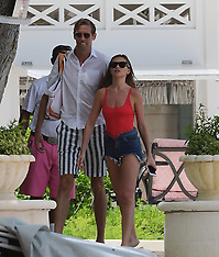 Abbey Clancy and Peter Crouch pictured on a romantic holiday - 20 June 2018 -