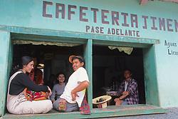 People At Cafeteria Todos Santos Festival