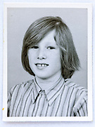 school memory head and shoulders photo of young boy 1970s