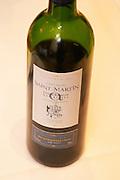 Chateau Saint martin. Vignerons d'Elne cooperative. Cotes du Roussillon Les Aspres. Roussillon. France. Europe. Bottle.