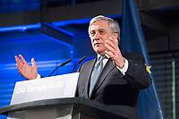09 NOV 2017, BERLIN/GERMANY:<br /> Antonio Tajani, Praesident des Europaeischen Parlaments, haelt die 8. Europa-Rede, ein Kooperationsprojekt der Konrad-Adenauer-Stiftung, der Schwarzkopf-Stiftung Junges Europa, der Stiftung Zukunft Berlin und der Mercator Stiftung, Allianz Forum<br /> IMAGE: 20171109-01-082<br /> KEYWORDS: Europarede