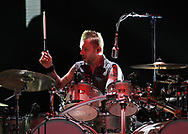 Three Days Grace drummer Neil Sanderson performs Feb. 25, 2019, at Madison Square Garden in New York City.