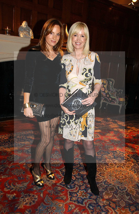 Left to right, EMILY OPPENHEIMER-TURNER and SALLY GREENE at The Hospital Awards - to honour talent in the creative industry, held at 9 Grosvenor Place, London on 3rd october 2006.<br /><br />NON EXCLUSIVE - WORLD RIGHTS