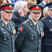 NLD/Amsterdam/20150504 - Dodenherdenking 2015 Amsterdam, miltaire top, oa De Commandant der Stijdkrachten Tom Middendorp en zijn Operationele Ondercommandanten
