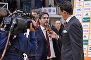 DESCRIZIONE : Eurolega Euroleague 2015/16 Group D Dinamo Banco di Sardegna Sassari - Brose Basket Bamberg<br /> GIOCATORE : Andrea Trinchieri Pietro Colnago<br /> CATEGORIA : Postgame Intervista Fox Sport TV<br /> SQUADRA : Brose Basket Bamberg<br /> EVENTO : Eurolega Euroleague 2015/2016<br /> GARA : Dinamo Banco di Sardegna Sassari - Brose Basket Bamberg<br /> DATA : 13/11/2015<br /> SPORT : Pallacanestro <br /> AUTORE : Agenzia Ciamillo-Castoria/L.Canu