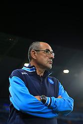 17th October 2017 - UEFA Champions League - Group F - Manchester City v Napoli - Napoli coach Maurizio Sarri - Photo: Simon Stacpoole / Offside.