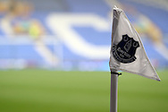 an Everton corner flag. Barclays Premier League match, Everton v Sunderland at Goodison Park in Liverpool on Sunday 1st November 2015.<br /> pic by Chris Stading, Andrew Orchard sports photography.