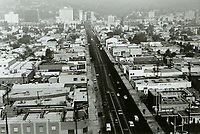 1970 Looking north on Highland Ave. from Santa Monica Blvd.