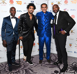 David Haye and Johnny Nelson attending the third Lycamobile British Ethnic Diversity Sports Awards BEDSAs, held at the Park Lane Hilton Hotel, London