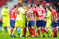Atletico de Madrid's players and Getafe CF's players have words during La Liga match. January 6,2018. (ALTERPHOTOS/Acero)