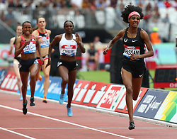 July 22, 2018 - London, United Kingdom - Sifan Hassan of Netherlands Compete in the 1 Mile Women Millicent Fawcett during the Muller Anniversary Games IAAF Diamond League Day Two at The London Stadium on July 22, 2018 in London, England. (Credit Image: © Action Foto Sport/NurPhoto via ZUMA Press)