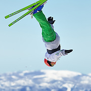 Andrew Wilson performs aerial acrobatics during the 2009 Sprint US Freestyle Championships held at the Utah Olympic Park in Park City on March 8, 2009.