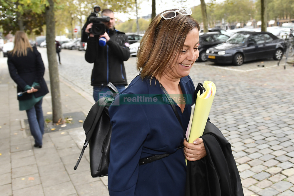 October 26, 2018 - Tongeren, BELGIUM - Lawyer Nathalie Buisseret pictured at a session at the Antwerp Court with the appearance of eight suspects in the football fraud case, Friday 26 October 2018. Several suspects in a large investigation into tax evasion, money laundering and possible match fixing in Belgian first division soccer competition were arrested in 'Operatie Propere Handen' (Operation Clean Hands)...BELGA PHOTO DIRK WAEM (Credit Image: © Dirk Waem/Belga via ZUMA Press)