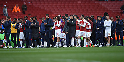 Arsenal players on their lap of appreciation
