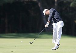Oct 19, 2018-Jeju, South Korea-JUSTIN THOMAS of USA action on the 3th green during the PGA Golf CJ Cup Nine Bridges Round 2 at Nine Bridges Golf Club in Jeju, South Korea.