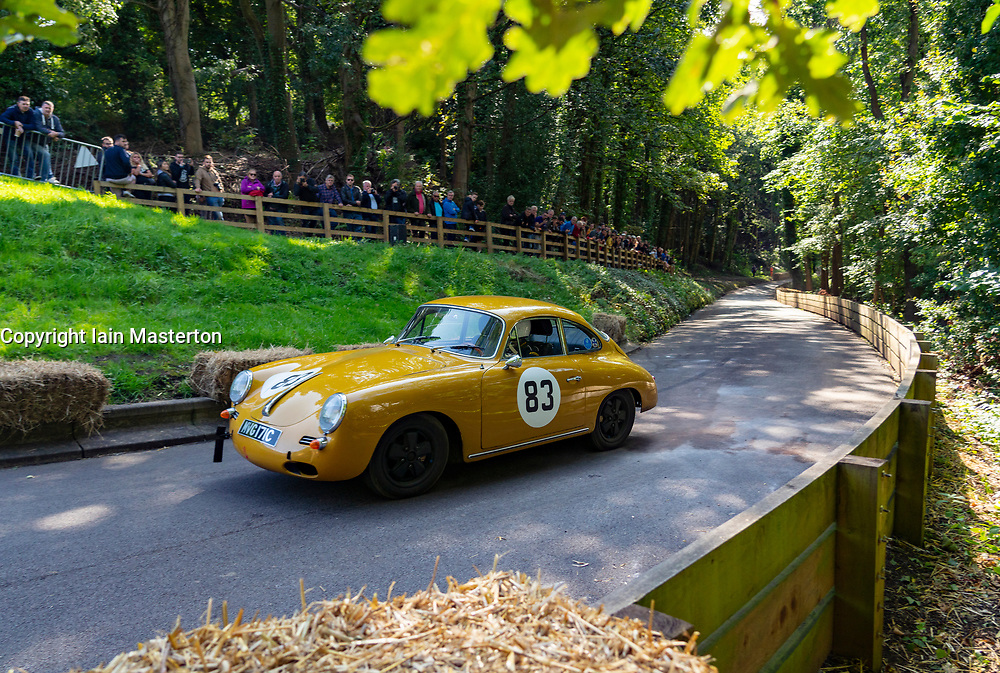 Boness Revival hillclimb motorsport event in Boness, Scotland, UK. The 2019 Bo'ness Revival Classic and Hillclimb, Scotland's first purpose-built motorsport venue, it marked 60 years since double Formula 1 World Champion Jim Clark competed here.  It took place Saturday 31 August and Sunday 1 September 2019. 83 Johnny Graham Porsche 356C