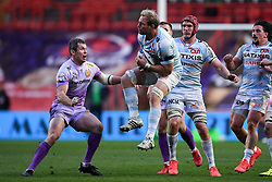 Antonie Claassen of Racing 92 is marked by Ian Whitten of Exeter Chiefs - Mandatory by-line: Ryan Hiscott/JMP - 17/10/2020 - RUGBY - Ashton Gate Stadium - Bristol, England - Exeter Chiefs v Racing 92 - Heineken Champions Cup Final