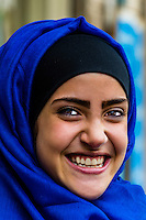 Jordanian woman, Downtown Amman, Jordan.