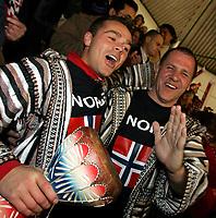 Håndball VM, Tunisia 2005, Nabeul 01/02-2005, <br />Norske supportere på tribunen, Basti Rassmussen, Rasmusen, Rasmussen, Rassmusen,<br />Foto: Sigbjørn Andreas Hofsmo, Digitalsport
