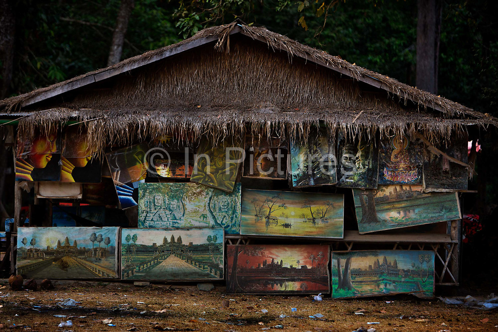 Shop selling paintings in Ankor Thom Temple