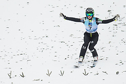 February 8, 2019 - Katra Komar of Slovenia on first competition day of the FIS Ski Jumping World Cup Ladies Ljubno on February 8, 2019 in Ljubno, Slovenia. (Credit Image: © Rok Rakun/Pacific Press via ZUMA Wire)