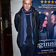 London, England, UK. 23 January 2018.Rupert Graves Arrivers at Beginning - press night at Ambassadors Theatre.