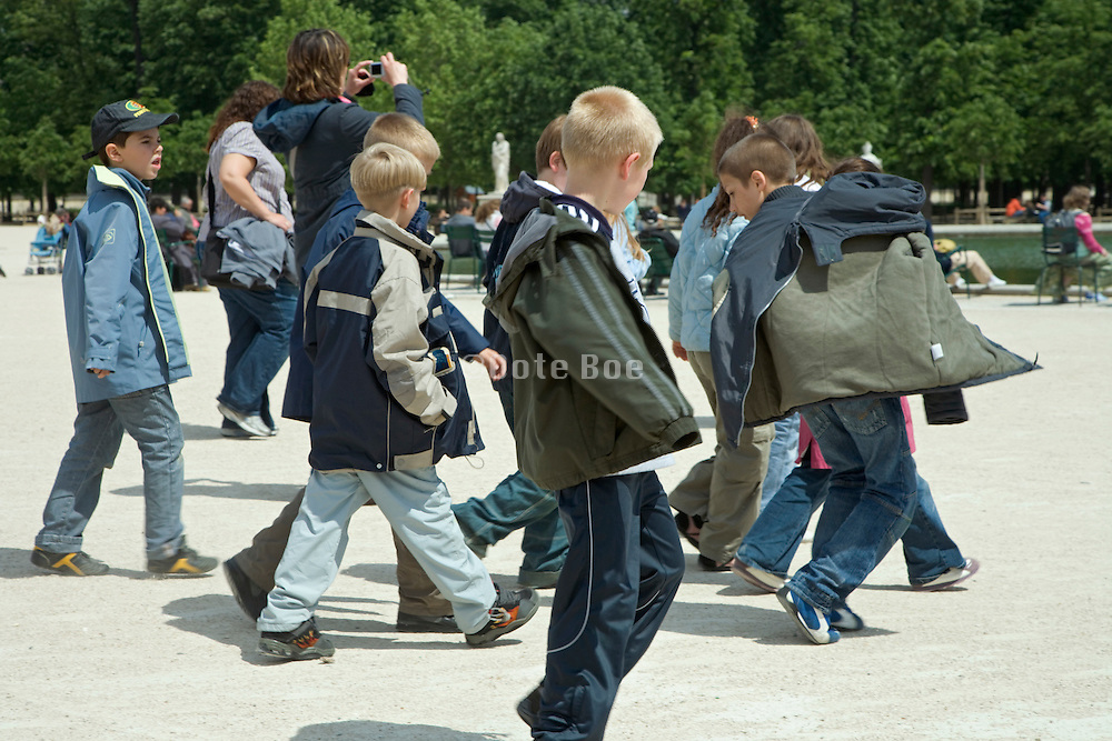 group of children on a school trip