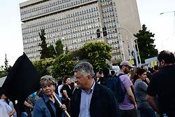 June 13, 2017 - Athens, Greece - Menidi suburb residents hold a rally to protest against criminality outside the Citizens' Protection Ministry in Athens, on June 13, 2017. The killing of an 11-year-old boy by a stray bullet sparkled tensions in one of Attica's most downgraded districts. (Credit Image: © Gerasimos Koilakos/NurPhoto via ZUMA Press)