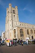 Great Saint Mary's church tower, Cambridge, England
