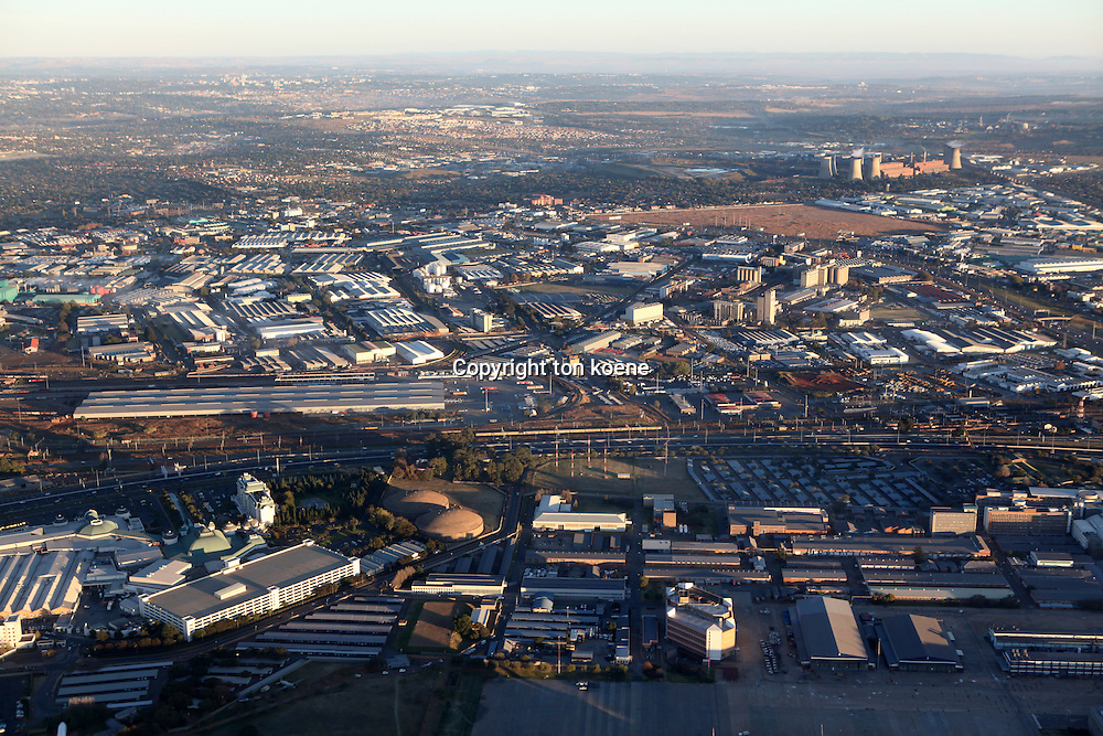 aerial view on johannesburg