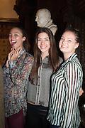 ALEXANDRA DE LLANNO; MARIA NEBREVA; ADELLE COHEN, The Almeida Theatre  celebrates Mike Attenborough's 11 brilliant years as Artistic Director. Middle Temple Hall,<br /> Middle Temple Lane, London, EC4Y 9AT