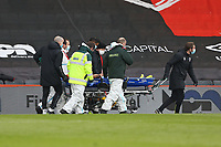Football - 2020 / 2021 Sky Bet Championship - AFC Bournemouth vs. Coventry City - The Vitality Stadium<br /> <br /> Josh Pask of Coventry is carried off on a stretcher at the Vitality Stadium (Dean Court) Bournemouth <br /> <br /> COLORSPORT/SHAUN BOGGUST
