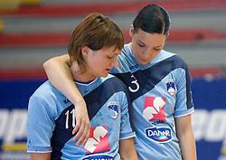 Katja Cerenjak and Anja Argenti at practice of Slovenian Handball Women National Team, on June 3, 2009, in Arena Kodeljevo, Ljubljana, Slovenia. (Photo by Vid Ponikvar / Sportida)