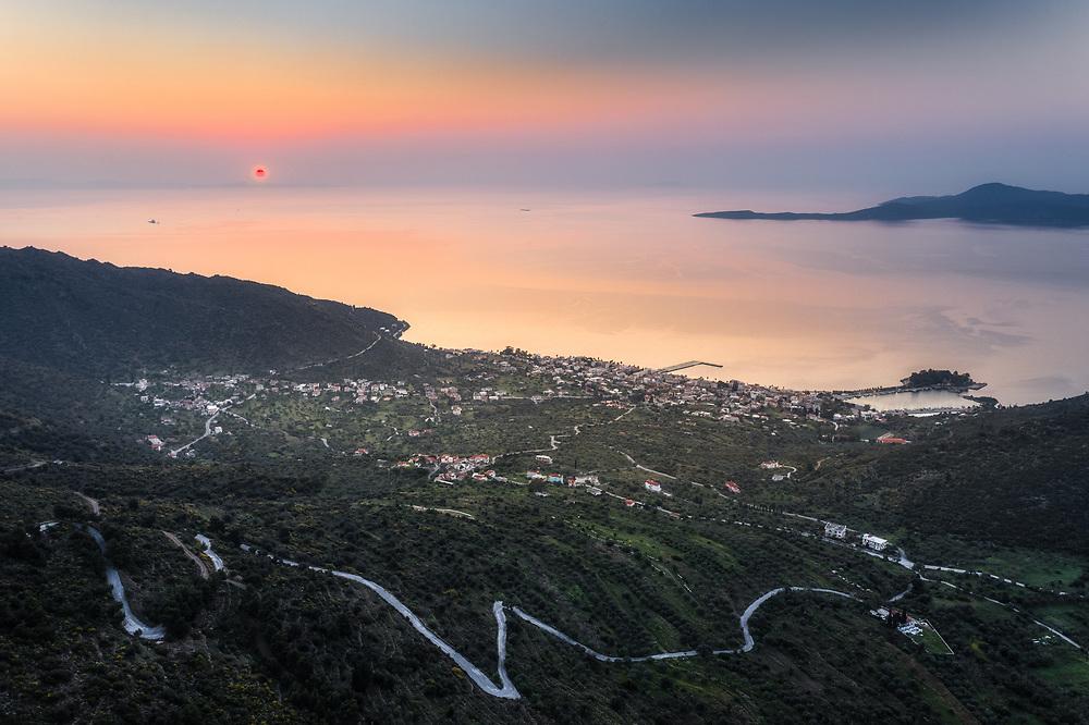 Sunrise over Methana, Greece