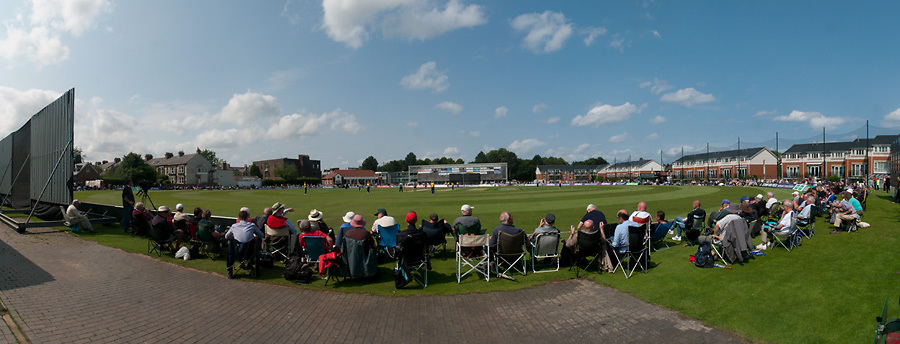 Durham CCC playing Warwickshire CCC in a Royal London One Day Cup match at South Northumberland CC as part of the club's 150th year celebrations. Durham are batting