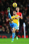 Scott Dann of Crystal Palace clears with an overhead kick - Manchester United vs. Crystal Palace - Barclay's Premier League - Old Trafford - Manchester - 08/11/2014 Pic Philip Oldham/Sportimage
