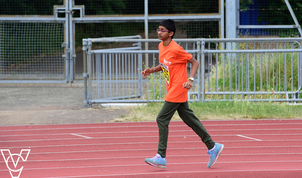 Event: 400 meters<br /> Competitors, from left: Sonali Shah<br /> <br /> Metro Blind Sport's 42nd Athletics Open, held at Mile End Stadium, Tower Hamlets, London.<br /> <br /> Picture: Chris Vaughan Photography for Metro Blind Sports<br /> Date: June 16, 2018