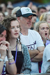 © Licensed to London News Pictures. 27/06/2015. Witney, Oxfordshire. PAUL BAKER (dad). 3000 attended the very first Lib Fest that took place in memory of Witney schoolgirl Liberty Baker who was killed on the way to school by 18 year old driver Robert Blackwell. PAUL BAKER, the father of Liberty was accused by Police of harassing the Blackwell family and was due in front of magistrates, but it was dropped at the last minute. Photo credit : MARK HEMSWORTH/LNP