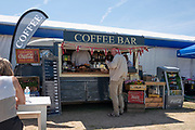 """Henley on Thames, United Kingdom, 2nd July 2018, Monday,   """"Henley Royal Regatta"""",  view, Mobile, Coffee, Bar, Henley Reach, River Thames, Thames ValleyEngland, © Peter SPURRIER,"""