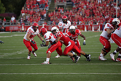 19 September 2009: Doni Phelps puts the stop on Ryan White in a game which the Austin Peay Governors were defeated 38-7 by the Illinois State Redbirds at Hancock Stadium on campus of Illinois State University in Normal Illinois